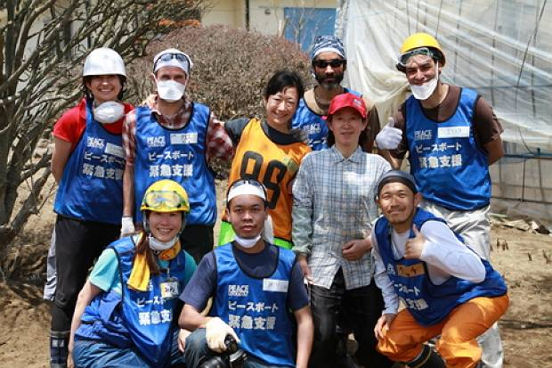 Abe-san and the volunteer members