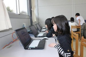 New computers for the children arrived on March 1