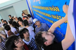 Fukushima junior high school students on exchange in Viet Nam (Fukushima Youth Project 2011 – Summer)