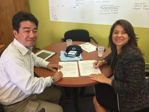 Lisa Orloff and Takashi Yamamoto