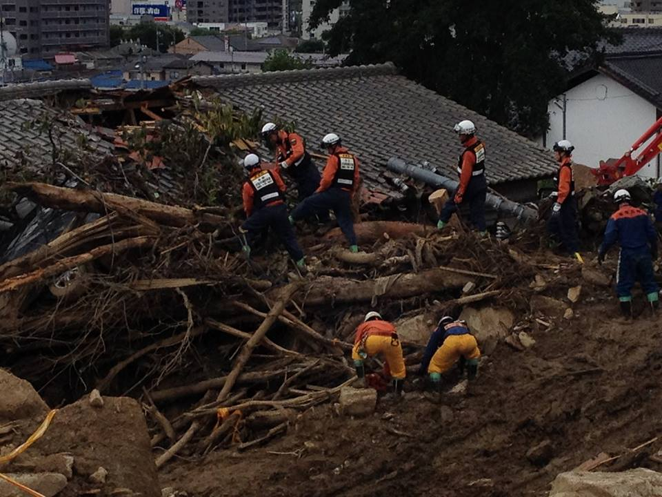 Hiroshima Landslides Search & Rescue